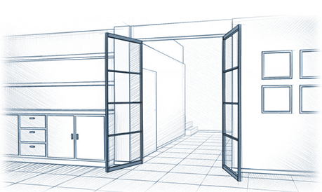 Metalen taatsdeur samenstellen